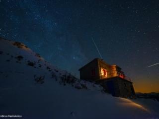 Photo Credit: Κωνσταντίνος Βασιλακάκος Καταφύγιο στην Ζήρεια, το δεύτερο ψηλότερο βουνό στην Πελοπόννησο.