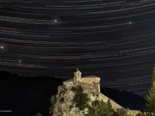 Photo Credit: Κωνσταντίνος Τσέκας Ίχνη αστέρων του αστερισμού του Δράκοντα στην Ιερά Μονή Αγίου Μηνά Κοκκιναλιθαρίου