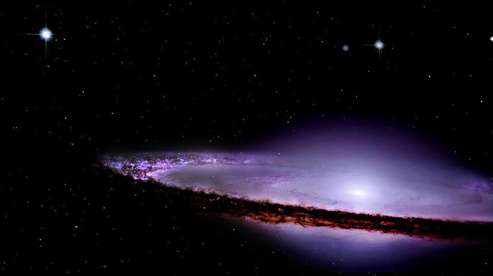 Ο Γαλαξίας Σομπρέρο, γνωστός και ως Μ104 ή NGC 4594, είναι ένας σπειροειδής γαλαξίας στον αστερισμό της Παρθένου. Ξεχωριστά χαρακτηριστικά του είναι ο λαμπρός πυρήνας, το ασυνήθιστα μεγάλο κεντρικό εξόγκωμα και μία έντονη σκοτεινή λωρίδα σκόνης στον εμφανιζόμενο υπό μεγάλη κλίση δίσκο του