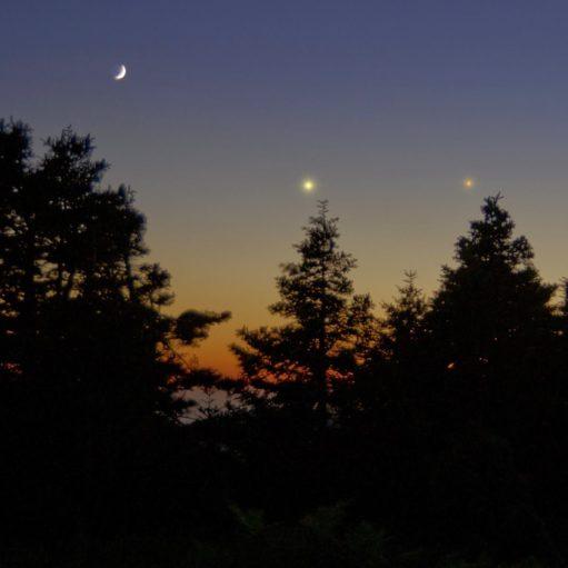 Σελήνη, Δίας και Ερμής