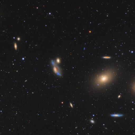 Το Σμήνος Γαλαξιών Της Παρθένου